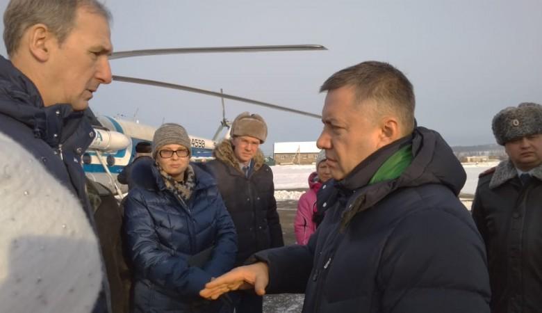 Врио губернатора Иркутской области Кобзев поехал в Тулун и проверил сигнализацию в школе