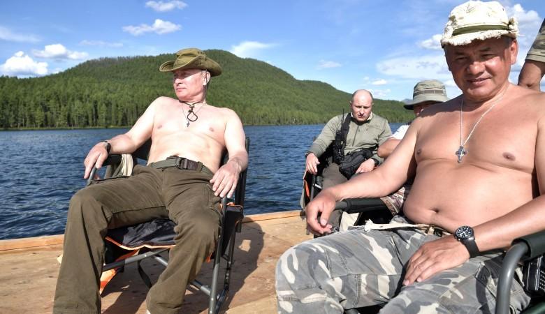 Путин на отдыхе в Туве