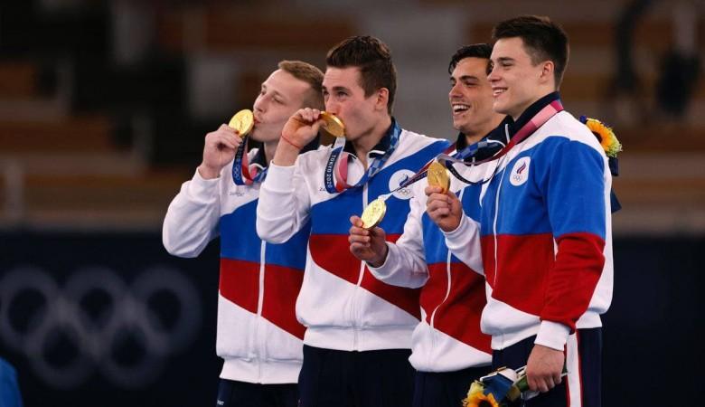 Российские гимнасты победили в командном многоборье на Олимпиаде