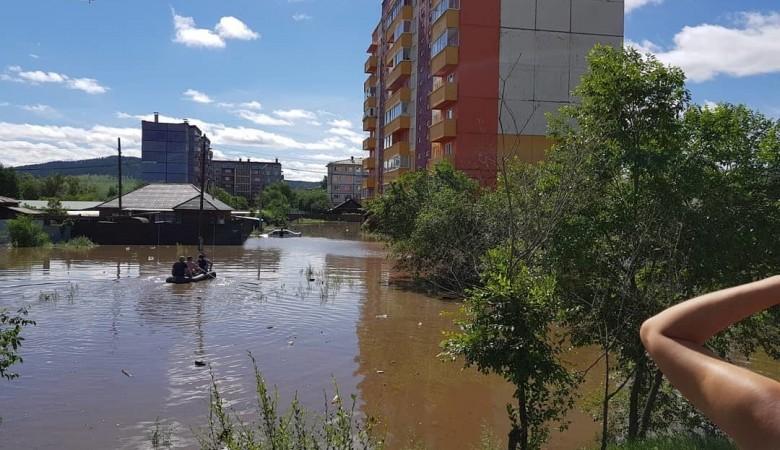 Вода пока не уходит из подтопленных районов Читы, дожди в регионе продолжаются