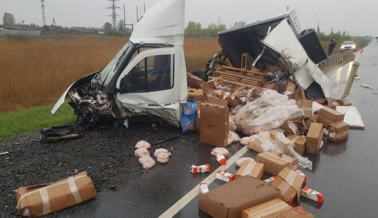 В Красноярском крае пять человек погибли при столкновении «Хонды» и фургона